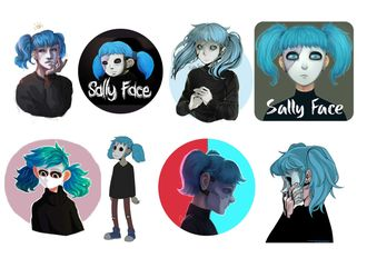 Наклейки Sally face №1