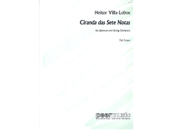 Villa-Lobos, Heitor Ciranda das sete notas : for bassoon and string orchestra score