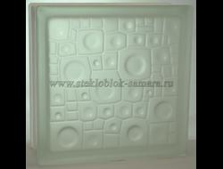 Стеклоблок Vitrablok губка бесцветный матовый