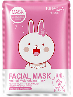 Коллагеновая маска с экстрактом сакуры BIOAQUA Animal Facial Mask Collagen