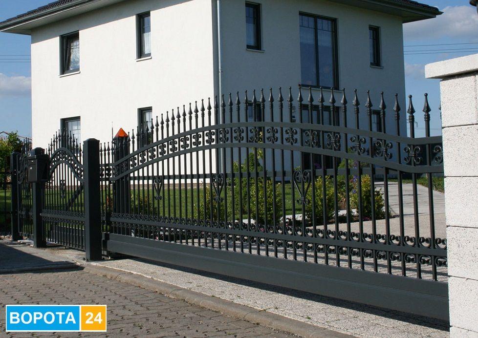 Серия ограждений люкс - качественные и красивые стальные ворота - изготовление в городе Одесса