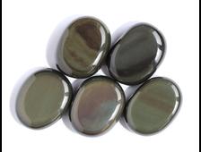Обсидиан радужный, полировка плоская в ассортименте, Мексика (22-23 мм, 5-6 г) №16760