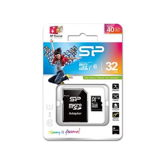 Карта памяти SILICON POWER micro SDHC (32 GB) class 10 с адаптером.