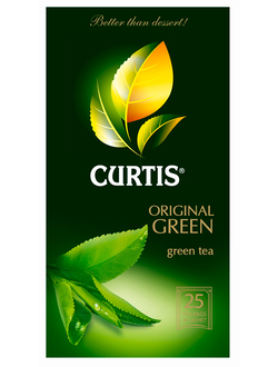 Чай в пакетиках Curtis Original Green Tea, зеленый, 25 порций