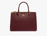 Prada Galleria Bag Burgundy 33