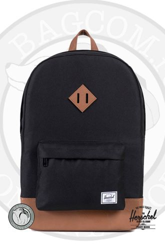 Herschel Heritage Mid Volume Black/Tan Synthetic Leather