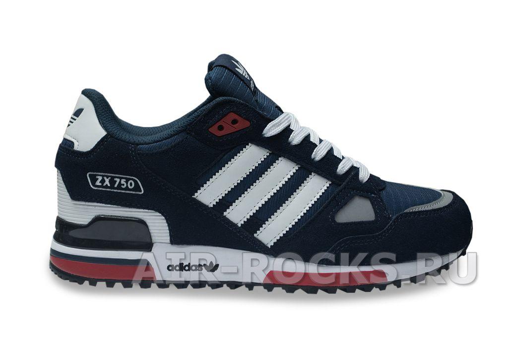79d52aae4652 Купить кроссовки Adidas ZX 750 Blue недорого   Интернет-магазин Синие Адидас  Зэт Икс 750 в Москве