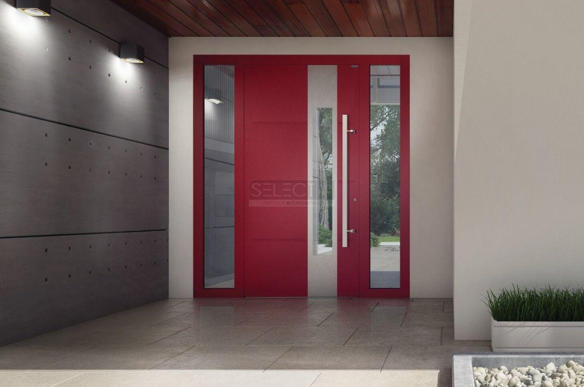 Входная группа - двери с фрамугой и стеклом - Длинная ручка - Дизайнерские решения