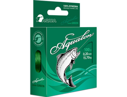 Плетенный шнур Aqua Aqualon Dark Green 100м