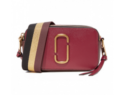 MARC JACOBS Snapshot Small Camera Bag Burgundy