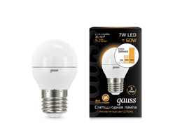 Gauss LED Globe 7w 830/840 Step Dimmable E27