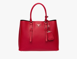 Prada Double Bag Red 35