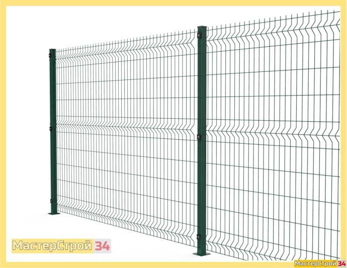 Забор из сетки 3D