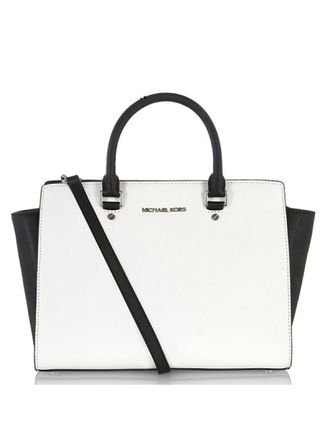 Сумка Michael Kors Selma Large (Черно-белая)