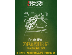 Deadline Mango Fruit IPA  6,3% IBU 57 0,5л Selfmade brewery