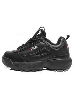 КРОССОВКИ FILA DISRUPTOR BLACK С МЕХОМ