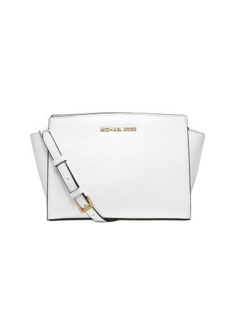 Сумка Michael Kors Selma Medium Messenger Saffiano (белая)