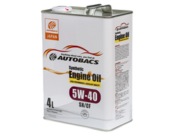 Масло моторное AUTOBACS Synthetic Engine Oil 5W-40 SN/GF-5 4л