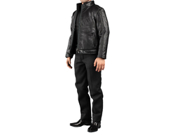 Комплект одежды с курткой + кобура и пистолет P226 - 1/6 scale Spy killer leather jacket (V1013 A) - VORTOYS (БЕЗ ТЕЛА И ГОЛОВЫ)