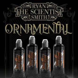 "RYAN SMITH - ORNAMENTAL INK SET 4 - ""World Famous Ink"" (ОРИГИНАЛ США 4 шт по 1OZ - 30 МЛ)"