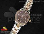 Aqua Terra Ladies Brown Dial RG