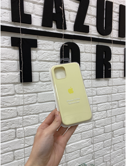 Чехол Apple Silicone case для iPhone 12/12 Pro Желтый