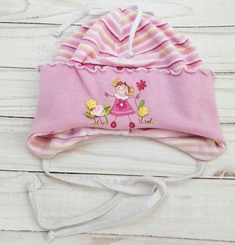 Шапка для девочки (Артикул 508) цвет розовый