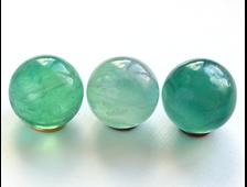 Шар Флюорит зеленый в ассортименте, Китай (25 мм, 27 г) №13652