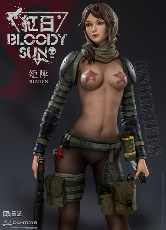 Коллекционная статуя 1/6 scale Statue Series Collab Artist Juzhen Illustration Bloody Sun – Dum 1:6 statue (CS031) - DAMTOYS x ARTPAGE