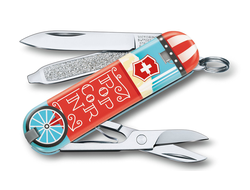 "Нож-брелок Victorinox Classic ""Let it Pop"" LE 2019, 58 мм, 7 функций"