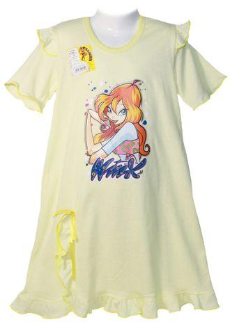 Сорочка для девочки (Артикул 338-022) цвет желтый