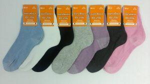 Пирамида носки женские М-14 гладкие хлопок 100%, 10 пар (1 упаковка)