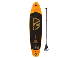 SUP BOARD надувной Aqua Marina FUSION с веслом SPORTS Aluminum Orange