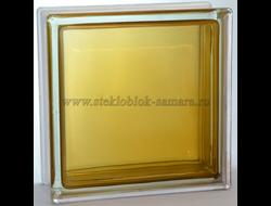 Стеклоблок Vitrablok окрашенный внутри гладкий коричневый