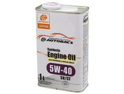 Масло моторное AUTOBACS Synthetic Engine Oil 5W-40 SN/GF-5 1л