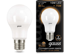 Gauss LED A60 10w 830/840 E27