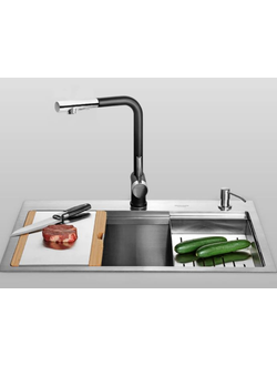 Смеситель для кухни Xiaomi MENSARJOR kitchen 7-shaped pull-out faucet