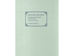 "Brahms: Four Songs with Lyrics by Klaus Groth (""Regenlied-Zyklus""), early versions from ""Lieder und Gesange"" op. 59 (First Edition)"