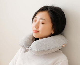 Подушка латексная Xiaomi  8H US memory cotton U-shaped neck pillow (бежевая, серая)