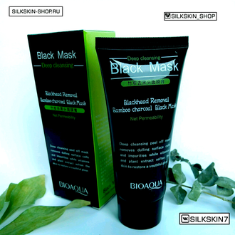 Маска от черных точек с углем бамбука Bioaqua Black Mask