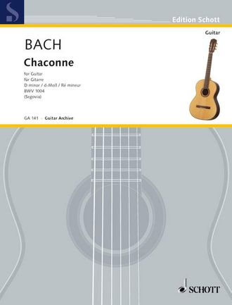 Bach, J S: Chaconne in d minor BWV 1004