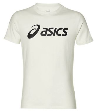 Футболка ASICS BIG LOGO TEE BRILLIANT WHITE/PERFORMANCE BLACK 2031A978-100 в бело черном цвете