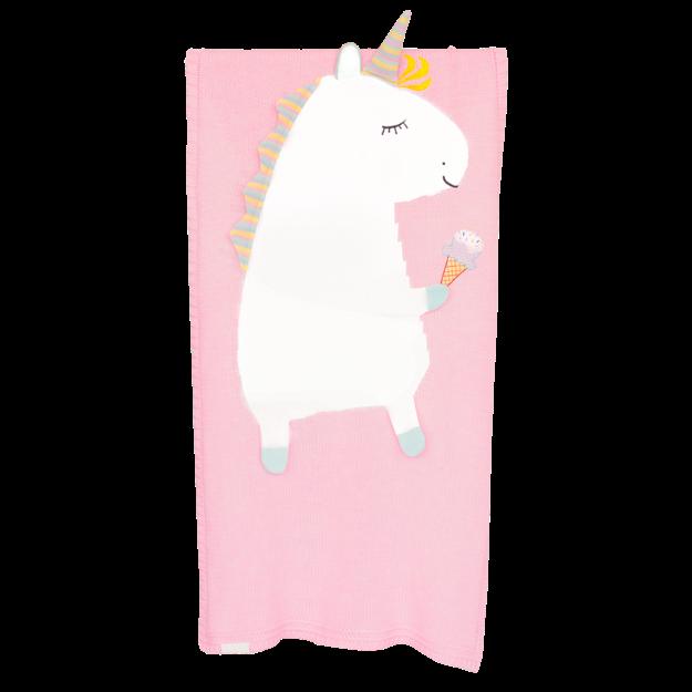 Плед APERO ЕДИНОРОГ розовый 60х120 см