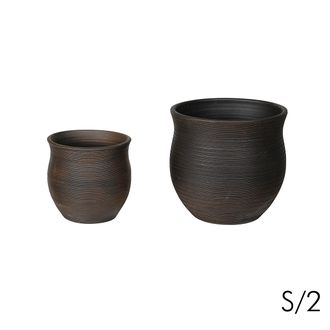 Цветочное кашпо SIA SUNTAN FLOWER POT LARGE S/2 , 280103 , H29/38.5 D29.5/40