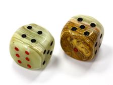 Кости игральные из оникса, 20*20 мм (2 шт) №13577