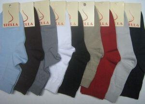 Стелла носки женские с-400 хлопок с лайкрой ассорти темные, 10 пар (1 упаковка)