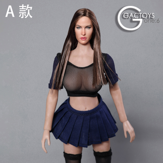 Женская голова (скульпт)  1/6 female head sculpture in Europe and America (GC029 A) - GACTOYS