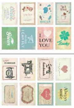 "Наклейки ""Lovely Stamps. Handmade"""