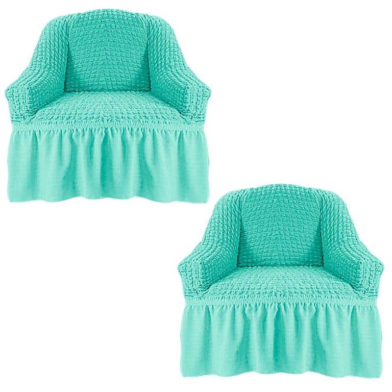 Чехлы на 2 кресла, Мятный 218