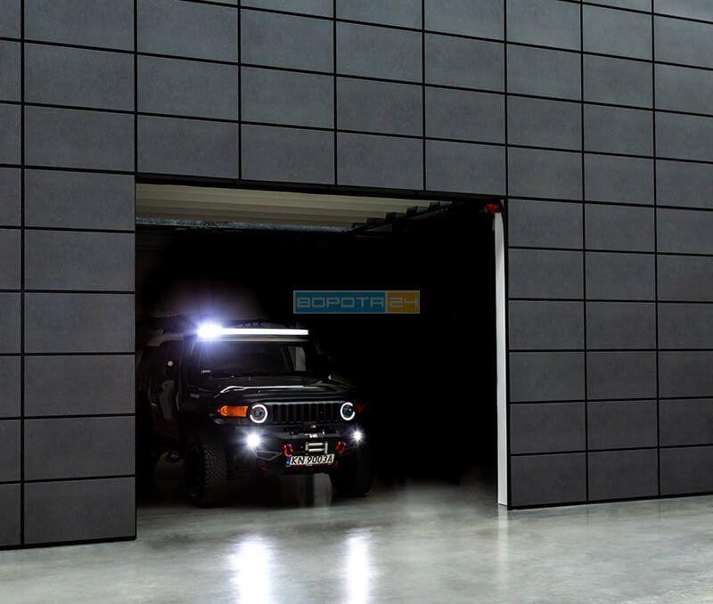 гаражные ворота из Европы заподлицо - изготовление под размер -установка